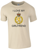 I Love my WRAC Girlfriend Ministry of Defence  Official MOD Approved Merchandise - Army 1157 Kit  Veterans Owned Business