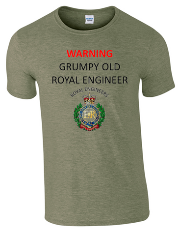Grumpy old Royal Engineer T-Shirt - Army 1157 Kit  Veterans Owned Business
