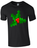 Christmas Holly T-Shirt - Army 1157 Kit  Veterans Owned Business