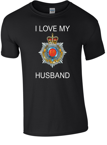 I Love my Royal Corp Transport (RCT) Husband T-Shirt Official MOD Approved Merchandise - Army 1157 Kit  Veterans Owned Business