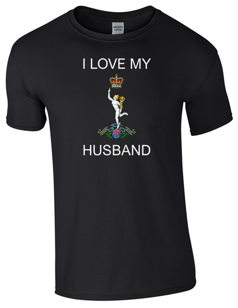 I Love my Royal Signals Husband T-Shirt Official MOD Approved Merchandise