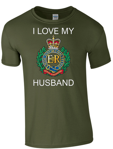 I Love my Royal Engineer (RE) Husband T-Shirt Official MOD Approved Merchandise