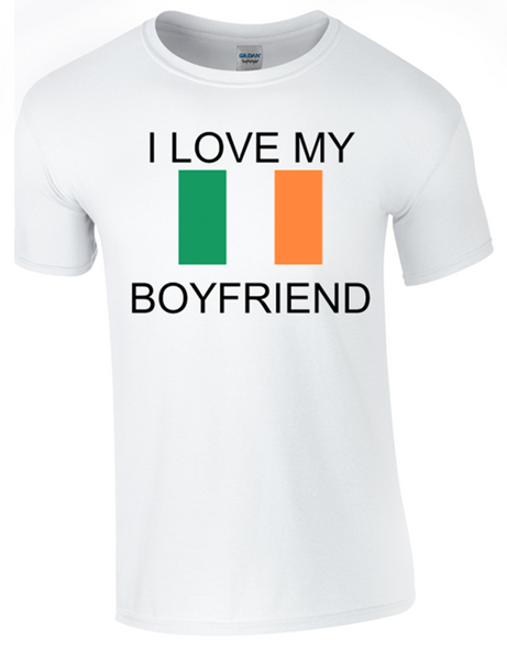 Valentine I Love my Irish Boyfriend Printed DTG (Direct to Garment) for a permanent finish. - Army 1157 Kit  Veterans Owned Business