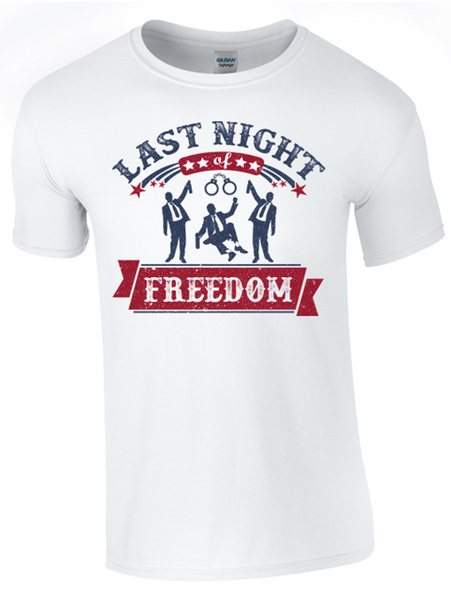 Last Night of Freedom T-Shirt - Army 1157 Kit  Veterans Owned Business