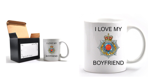 Valentine Royal Corp of Transport I Love my Boyfriend Mug and Gift Box set Ministry of Defence Official MOD Approved Merchandise