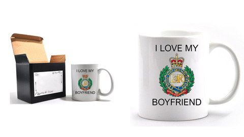 Valentine Royal Engineer I Love my Boyfriend Mug and Gift Box set Ministry of Defence Official MOD Approved Merchandise