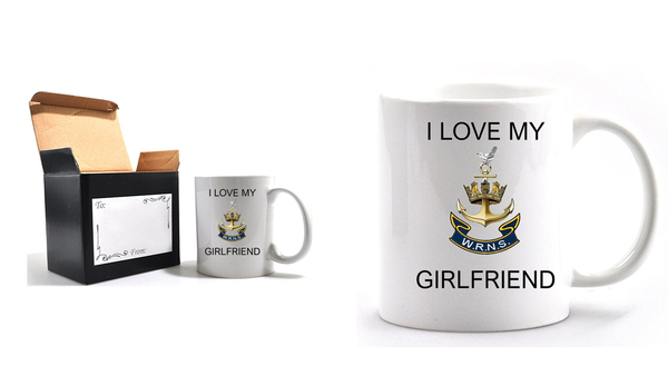 Valentine I Love my Wren Girlfriend Mug and Gift box set  Ministry of Defence Official MOD Approved Merchandise - Army 1157 Kit  Veterans Owned Business
