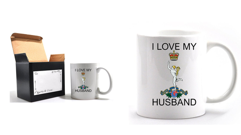 Valentine Royal Signals I Love my Husband Mug and Gift Box set Ministry of Defence Official MOD Approved Merchandise - Army 1157 Kit  Veterans Owned Business
