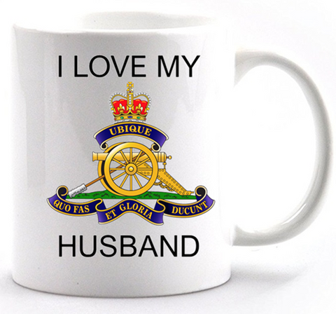 Valentine Royal Artillery I Love my Husband Mug and Gift Box set Ministry of Defence Official MOD Approved Merchandise - Army 1157 Kit  Veterans Owned Business