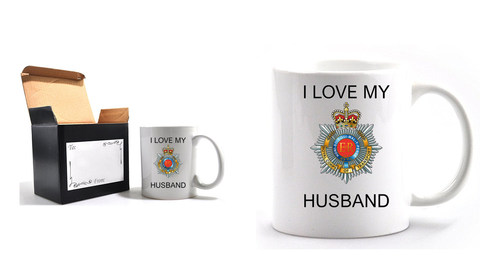 Valentine Royal Corp of Transport I Love my Husband Mug and Gift Box set Ministry of Defence Official MOD Approved Merchandise