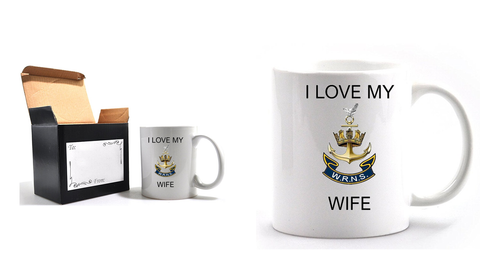 Valentine I Love my Wren Wife Mug and Gift box set  Ministry of Defence Official MOD Approved Merchandise - Army 1157 Kit  Veterans Owned Business