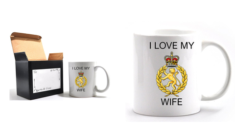 Valentine I Love my WRAC Wife Mug and Gift box set  Ministry of Defence Official MOD Approved Merchandise