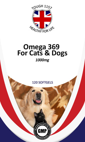 Omega 3, 6 & 9 For Cats & Dogs  1000mg 120 Softgels Supplements