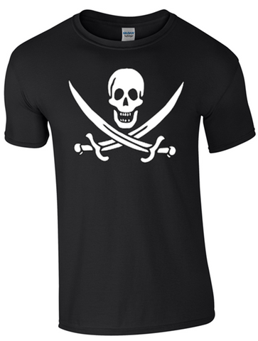 Pirate T-Shirt Printed DTG (Direct to Garment) for a Permanent Finish.