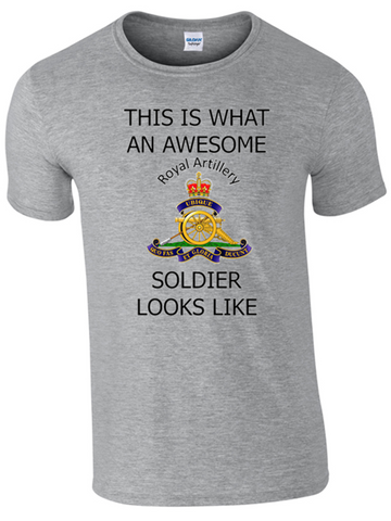Valentines Special - This is What an Awesome Royal Artillery Soldier Looks Like Ministry of Defence Official MOD Approved Merchandise - Army 1157 Kit  Veterans Owned Business