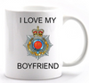 Valentine Royal Corp of Transport I Love my Boyfriend Mug and Gift Box set Ministry of Defence Official MOD Approved Merchandise - Army 1157 Kit  Veterans Owned Business