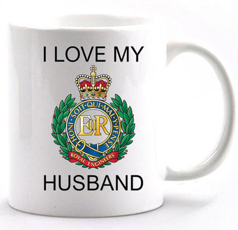 Valentine Royal Engineer I Love my Husband Mug and Gift Box set Ministry of Defence Official MOD Approved Merchandise - Army 1157 Kit  Veterans Owned Business