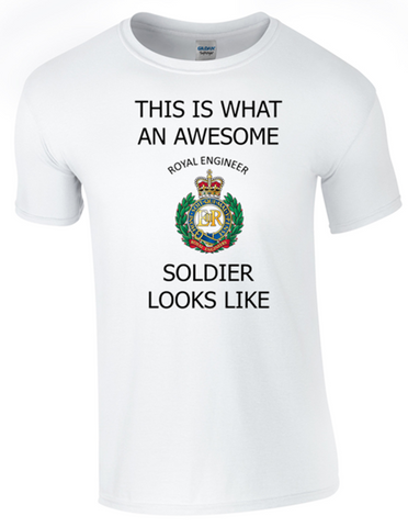 Valentines Special - This is What an Awesome Royal Engineer Soldier Looks Like Ministry of Defence Official MOD Approved Merchandise - Army 1157 Kit  Veterans Owned Business