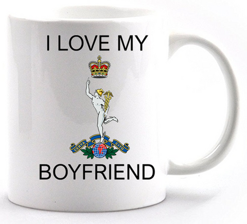 Valentine Royal Signals I Love my Boyfriend Mug and Gift Box set Ministry of Defence Official MOD Approved Merchandise