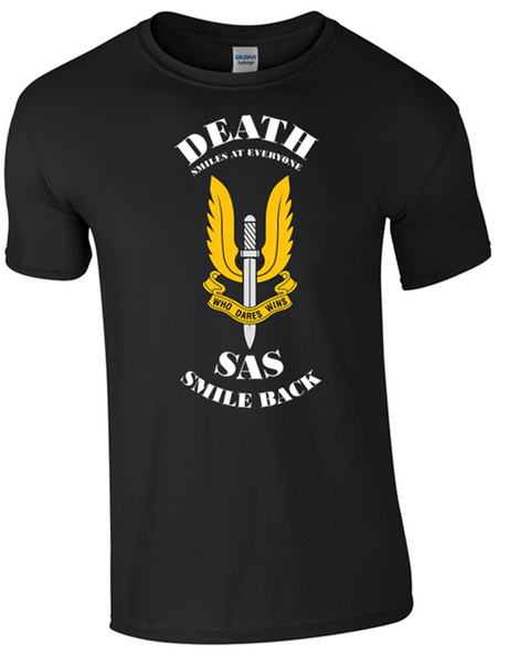 SAS  T-shirt  Black Official MOD Approved Merchandise