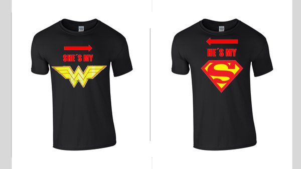 Superman & Wonder Woman T-Shirts - Army 1157 Kit  Veterans Owned Business