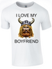 Valentine I Love my Viking Boyfriend Printed DTG (Direct to Garment) for a permanent finish. - Army 1157 Kit  Veterans Owned Business
