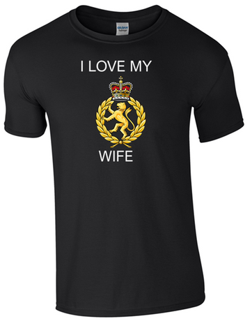 I Love my WRAC Wife Ministry of Defence  Official MOD Approved Merchandise - Army 1157 Kit  Veterans Owned Business