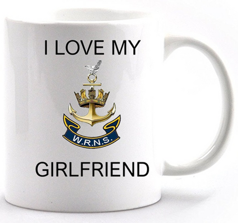 Valentine I Love my Wren Girlfriend Mug and Gift box set  Ministry of Defence Official MOD Approved Merchandise