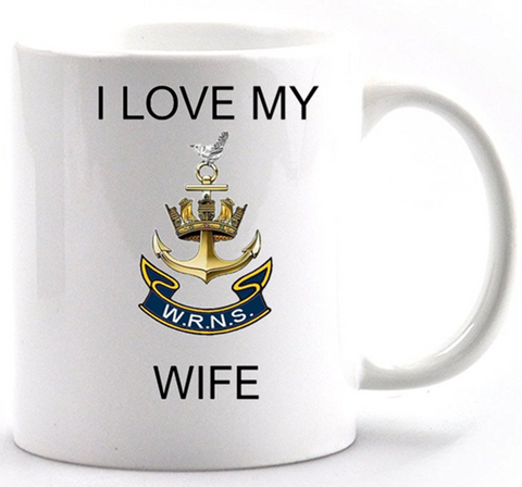 Valentine I Love my Wren Wife Mug and Gift box set  Ministry of Defence Official MOD Approved Merchandise
