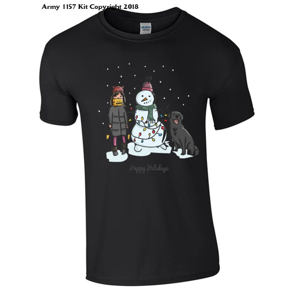 A Winters Scene T-Shirt Part Of The Army 1157 Kit Christmas Collection - S / Black - T Shirt