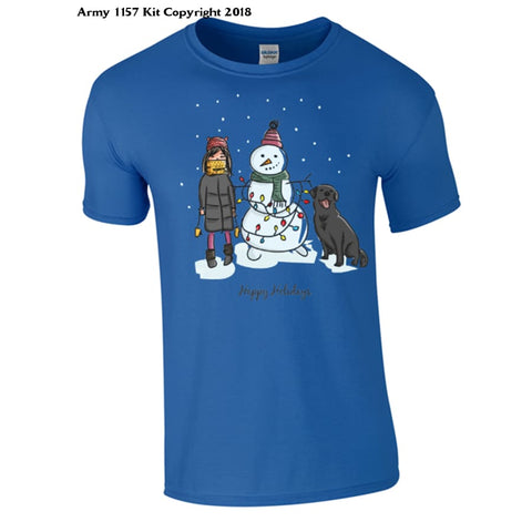 A Winters Scene T-Shirt Part Of The Army 1157 Kit Christmas Collection - S / Blue - T Shirt