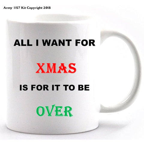 All I Want For Christmas Mug & Gift Box Set. Part Of The Army 1157 Kit Christmas Collection - Mug