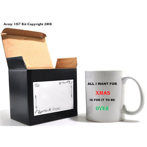 All I want for Christmas mug & Gift box set. Part of the Army 1157 Kit Christmas Collection - Army 1157 Kit  Veterans Owned Business