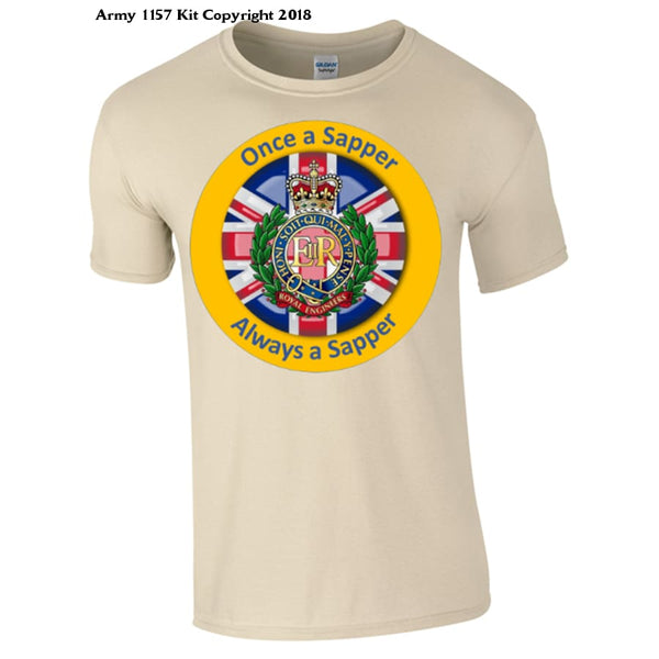 Always A Sapper T-Shirt - S / Sand - T Shirt