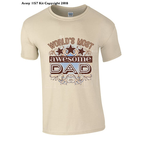 Awesome Dad T-Shirt - Army 1157 Kit  Veterans Owned Business