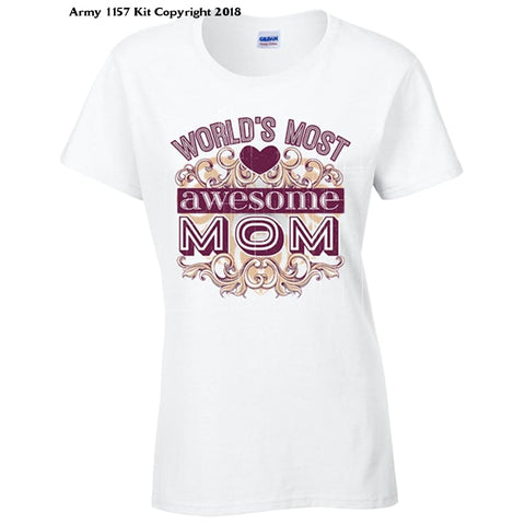 Awesome Mum T-Shirt - 12 / White - Apparel
