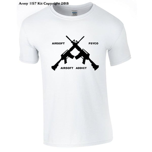 Bear Essentials Clothing. Airsoft T-Shirt - Large / White - Apparel