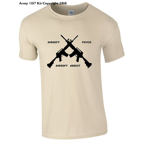 Bear Essentials Clothing. Airsoft T-Shirt - Small / Sand - Apparel