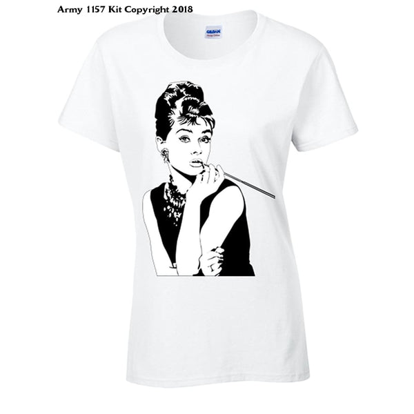 Bear Essentials Clothing. Audrey Hepburn T-Shirt - 10 - Apparel