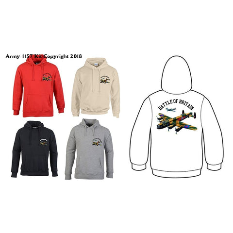Bear Essentials Clothing. Battle Of Britain Hoodies - X-Small / Black - Hoodie