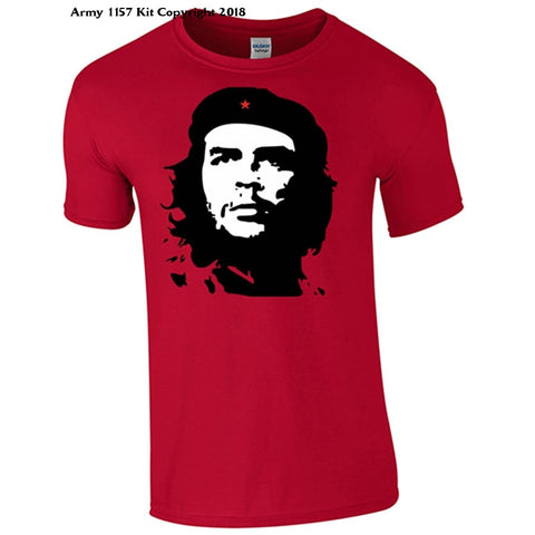 Bear Essentials Clothing. Che Guevara T-Shirt - Large / Red - Apparel
