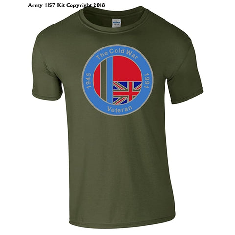 Bear Essentials Clothing. Cold War T/Shirt - Army 1157 Kit  Veterans Owned Business