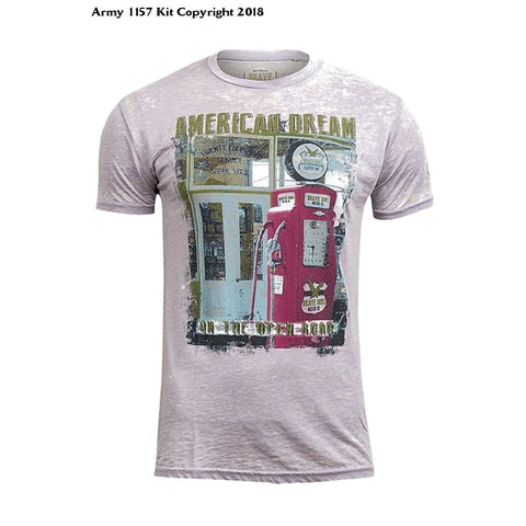 Bear Essentials Clothing Company Brave Soul Mens Amercan Dream T-Shirt - Army 1157 Kit  Veterans Owned Business