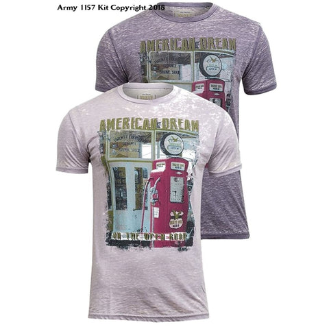 Bear Essentials Clothing Company Brave Soul Mens Amercan Dream T-Shirt - Medium / Light Lilac - Apparel