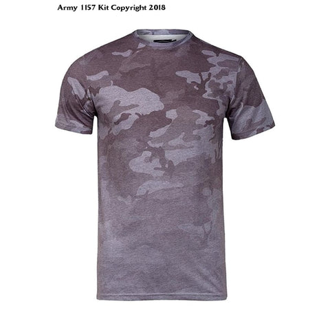 Bear Essentials Clothing Company Gray Camouflage Design T Shirt - Apparel
