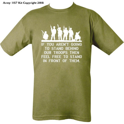 Bear Essentials Clothing Company If You Aren't Going to Stand Behind - Army 1157 Kit  Veterans Owned Business