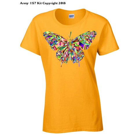 Bear Essentials Clothing. Crystal Butterfly - 10 / Orange - Apparel
