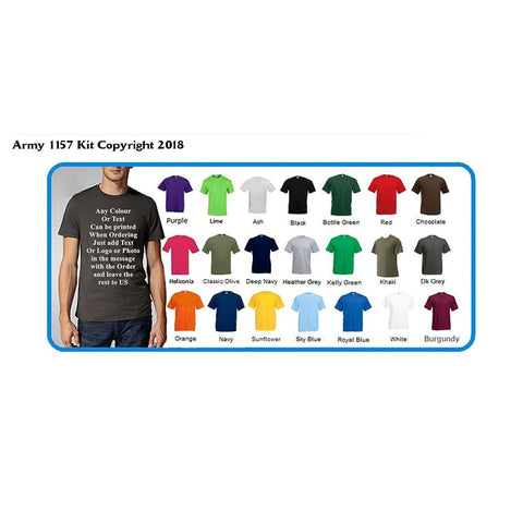 Bear Essentials Clothing. Custom Printed T-Shirts by Personalized by You! Great Gift! For Charity Events, Birthday, Parties, Workwear, Clubs, Teams, Schools, Stags, Hens, - Army 1157 Kit  Veterans Owned Business
