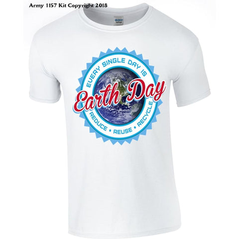 Bear Essentials Clothing. Earthday T-Shirt - X-Large / White - Apparel