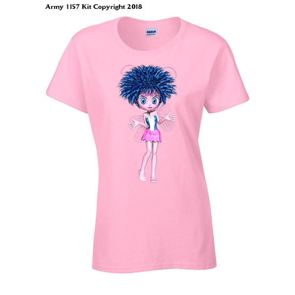 Bear Essentials Clothing. Funky Fairies Blue T-Shirt - Army 1157 Kit  Veterans Owned Business